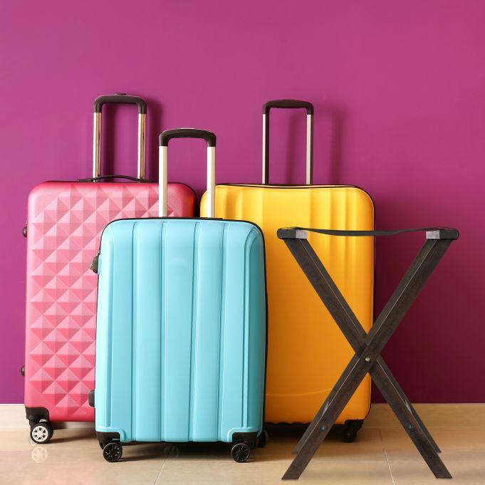 Dark Brown Folding Luggage Rack2