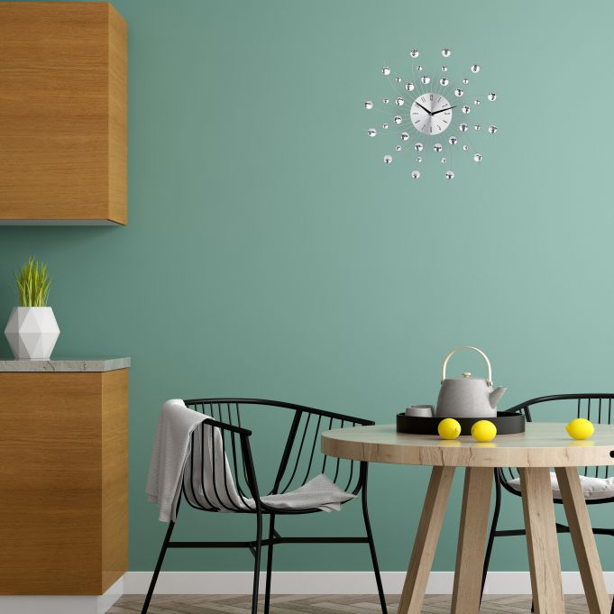 Horloge murale avec perles2