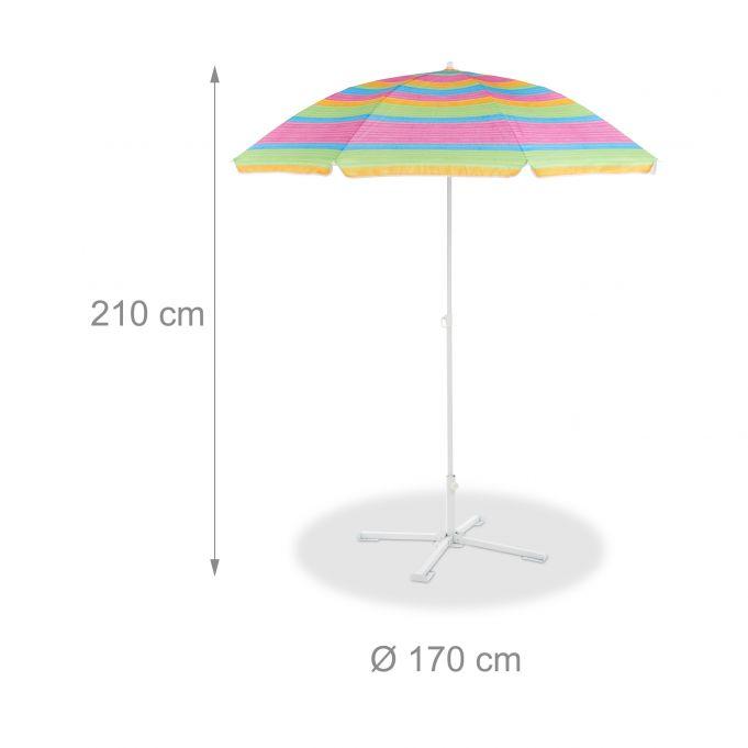 Parasol de plage rayé haut de 210 cm4