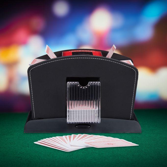 Electric 4-Deck Leather Card Shuffler2