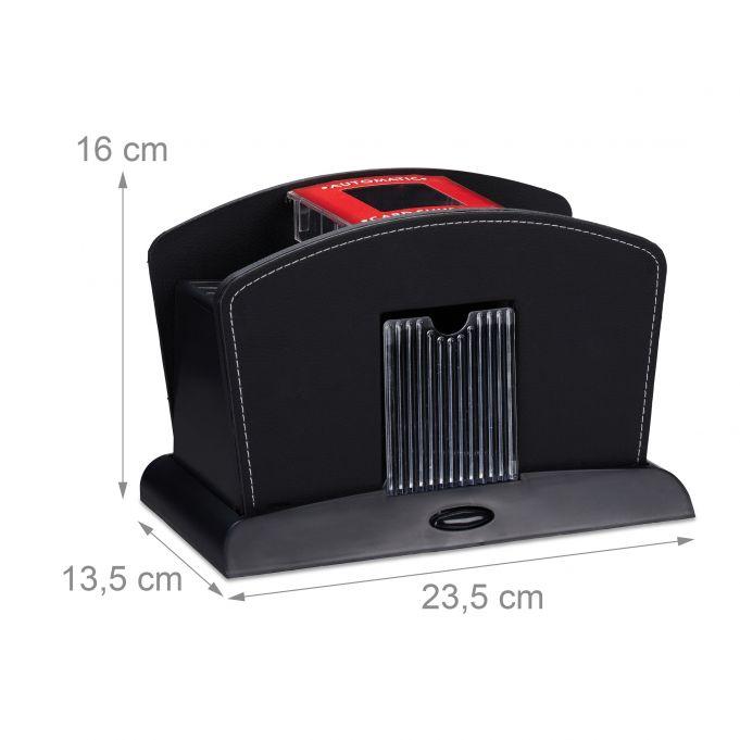 Electric 4-Deck Leather Card Shuffler4