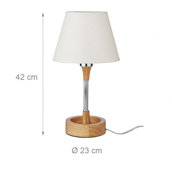 Table Lamp with Wooden Base4