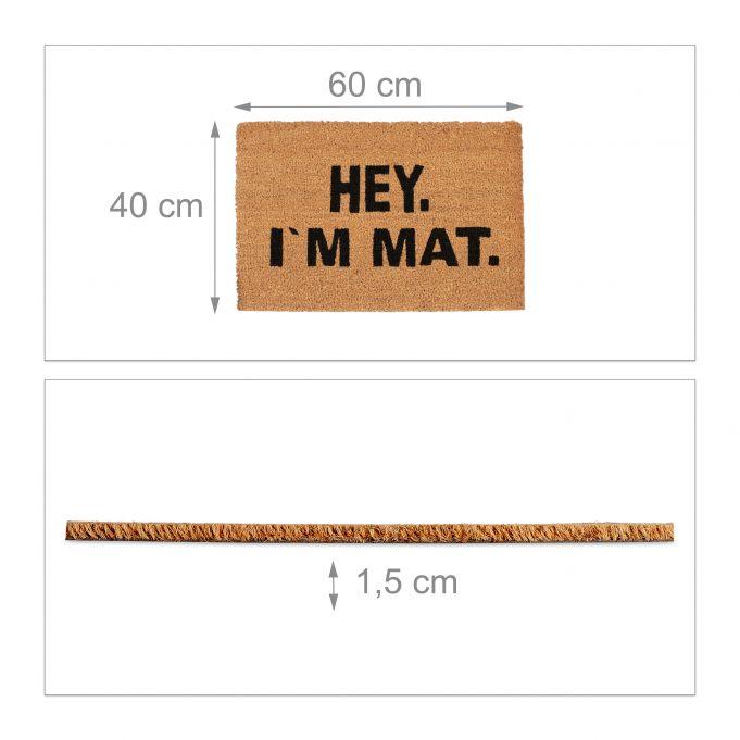 Coir Doormat I'M MAT4