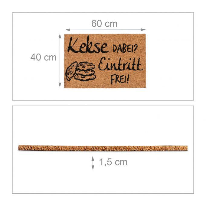 Paillasson fibre de coco Kekse Dabei?4