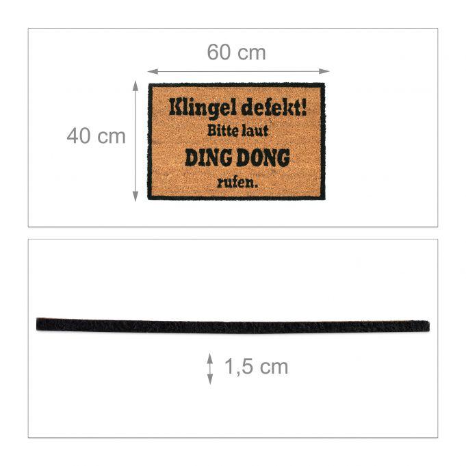 Coir Doormat DING DONG4
