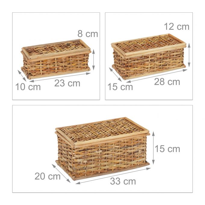 Set of 3 Rattan Storage Baskets4