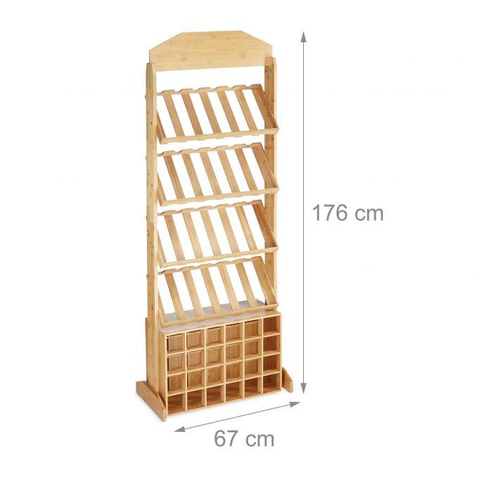 Weinregal XXL Bambus2