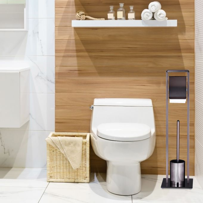 Wc Garnituur Toiletaccessoires Set Toiletrolhouder Hier Kopen