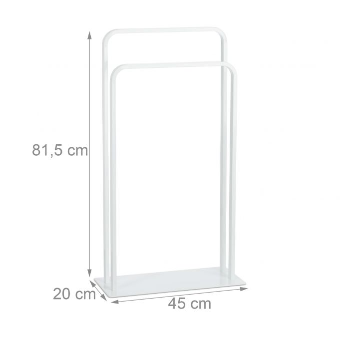 White Towel Holder with 2 Rails4