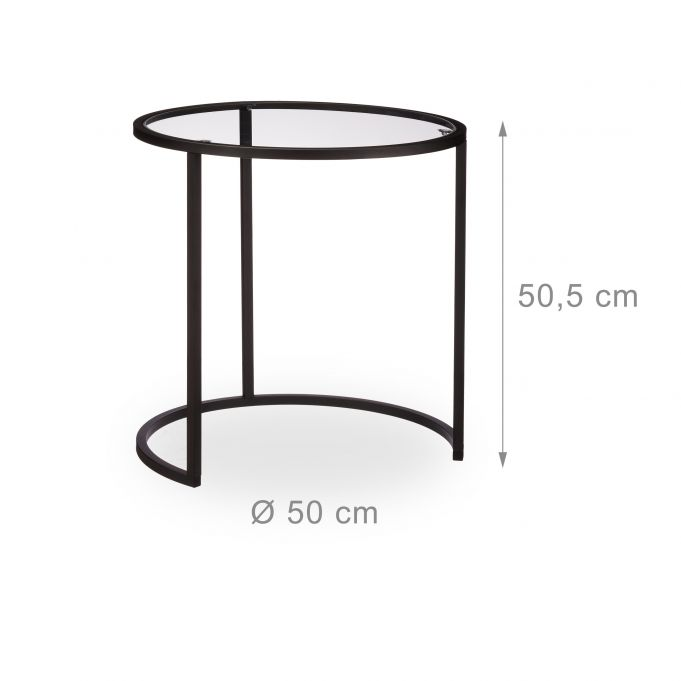 Glass Nesting Tables Set of 24