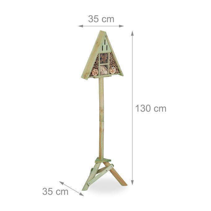 Insektenhotel Dreieck auf Ständer4