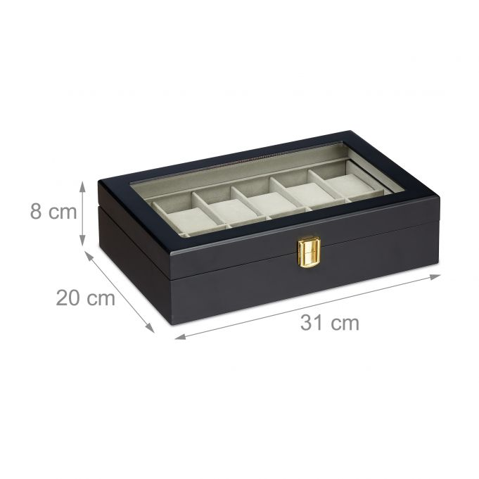 Watch Box with 12 Compartments4