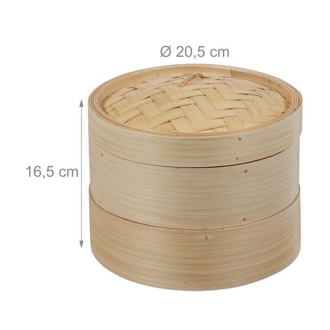 Stoommandje bamboe 2 laag 20.5 cm4