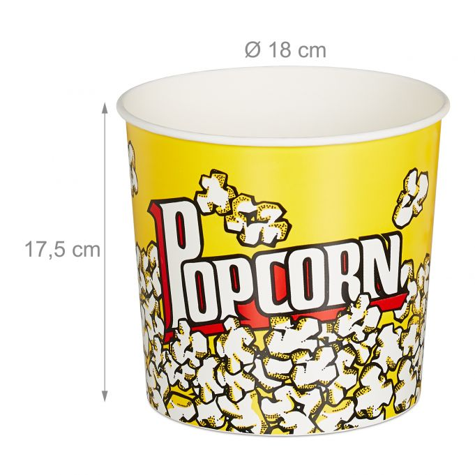 Seau pop-corn réutilisable lot de 64
