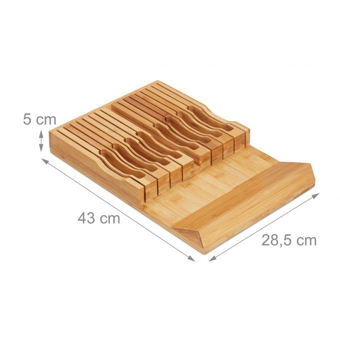 Bambusowy blok do noży na 17 noży4