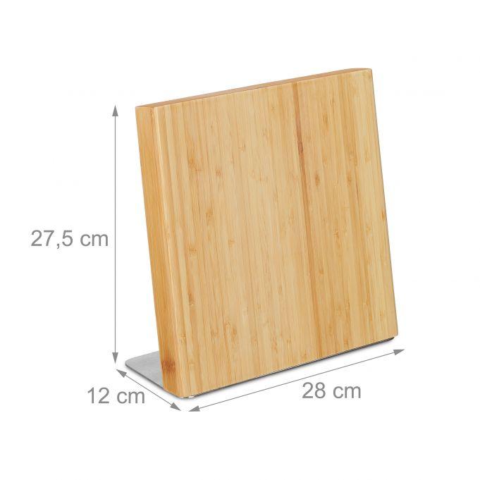 Magnetyczny stojak blok na noże bambus4