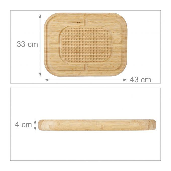 Schneidebrett Bambus XL4