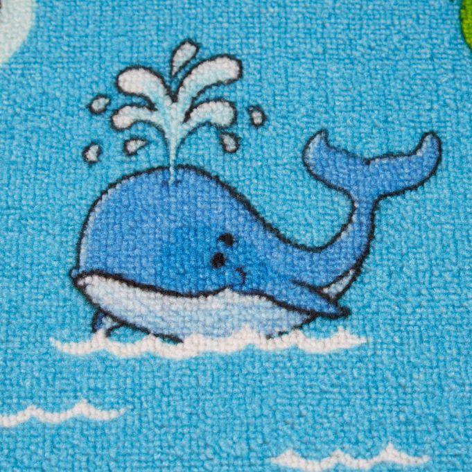 blau Anti Rutsch Beschichtung 150x100 cm Spielteppich Relaxdays Kinderteppich Weltkarte 1 St/ück Tiere und Ozeane Kurzflor