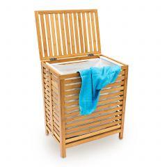 Wäschetruhe aus Bambus Holz mit viel Platz