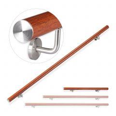 Oak-Look Aluminium Handrail