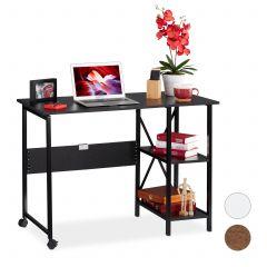 Sammenklappeligt skrivebord med hylder