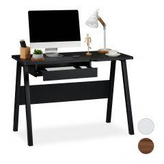 Moderne skrivebord med tastaturudtræk