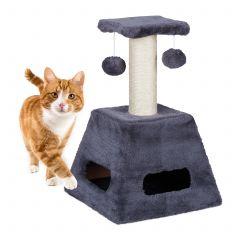 Arbre à chat avec balles de jeu
