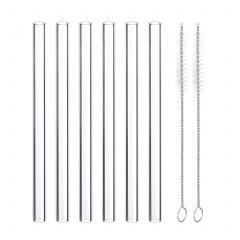 Straight Glass Straws Set of 6