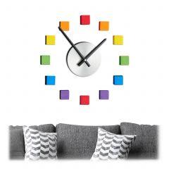 Horloge murale DIY colorée