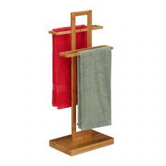 Porte-serviette sur pied bambou