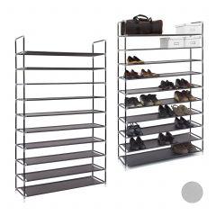 2 x Schuhregal 50 Paar Schuhe schwarz