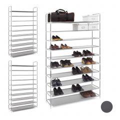 3 x Schuhregal für 50 Paar Schuhe grau