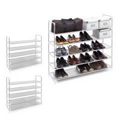 3 x Schuhregal für 20 Paar Schuhe weiß