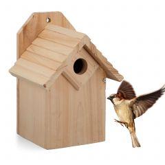 Fuglekasse av ubehandlet tre