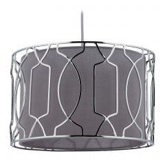 Lampe suspendue gris argenté