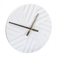 Moderne wandklok wit
