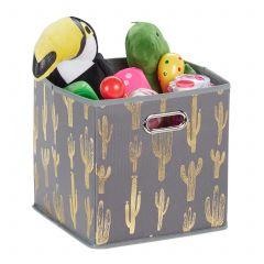 Quadratische Faltbox mit Kaktus Motiv