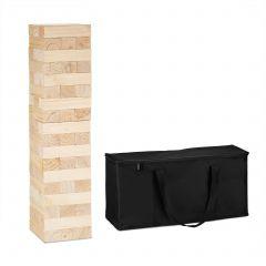 Drewniana wieża z klocków XXL