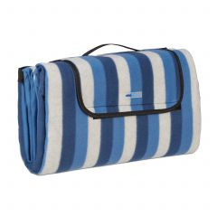 Picnic blanket with blue stripes