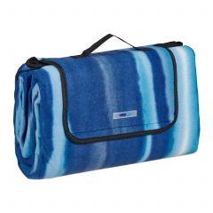 Koc piknikowy 200x200 niebieski w paski