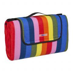 Koc piknikowy 200x200 w kolorowe paski