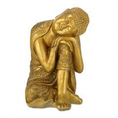 Buddha Figur mit geneigtem Kopf
