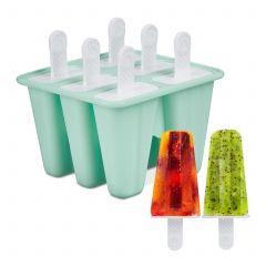 6 siliconen ijsvormpjes