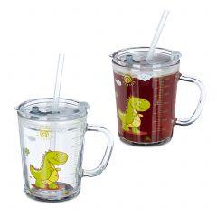 Set da 2 tazze per bambini con dinosauro