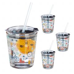 Set da 4 bicchieri sport per bambini