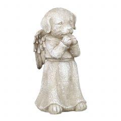 Angel dog statue ornament