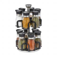 Spice rack with 12 glass jars