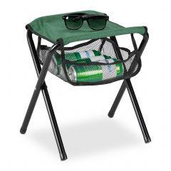 Groene campingkruk tot 120 kg