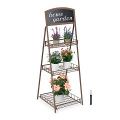 Metal plant stand with chalkboard