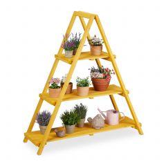 Blumentreppe Holz 3 Ebenen Pyramide